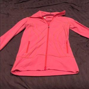 Bright Pink Lululemon Ladies Zip-up Sweatshirt